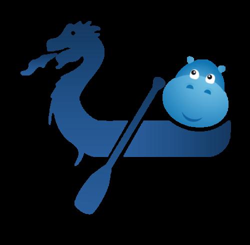 Modrý hroch na dračí lodi